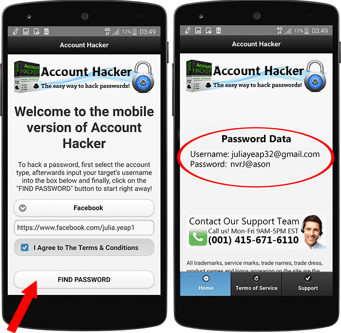 hack Facebook passwords for free on Android