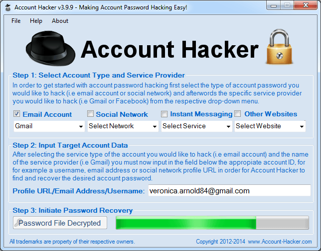 Hack a Gmail Account