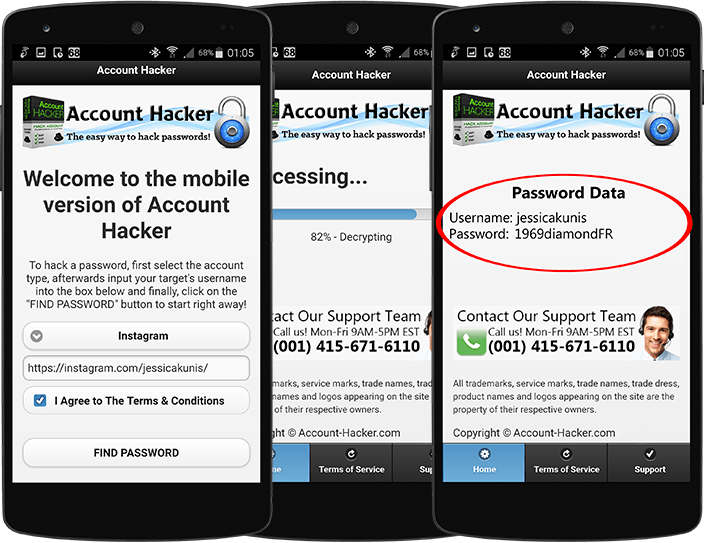 Instagram Hacking App for Android and iOS