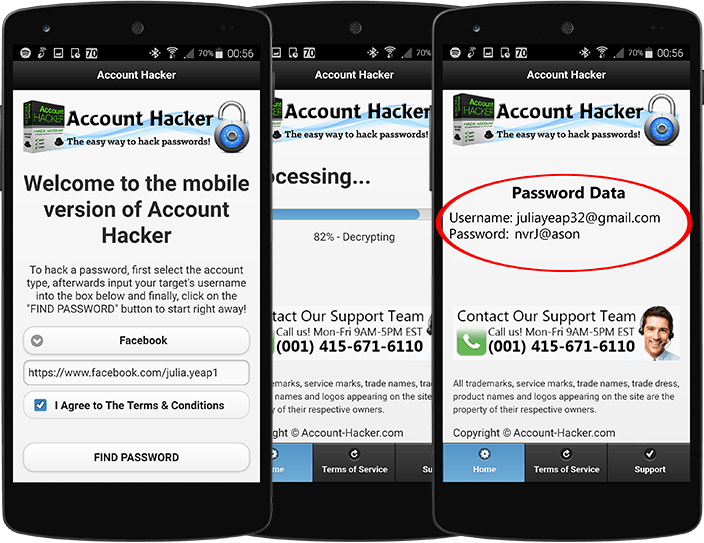 Android Facebook Hacking App