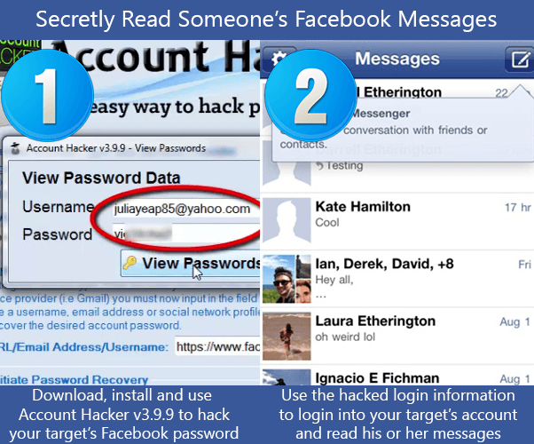 Spy on Someone's Facebook Messages