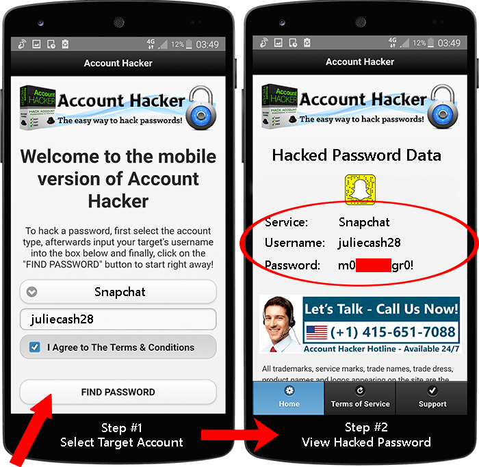 Hack Snapchat Passwords